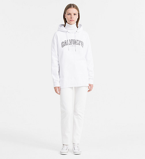 CALVIN KLEIN JEANS Oversized Logo Hoodie - BRIGHT WHITE - CALVIN KLEIN JEANS CLOTHES - detail image 1