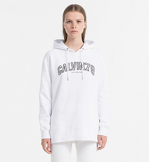 CALVIN KLEIN JEANS Oversized Logo Hoodie - BRIGHT WHITE - CALVIN KLEIN JEANS CLOTHES - main image