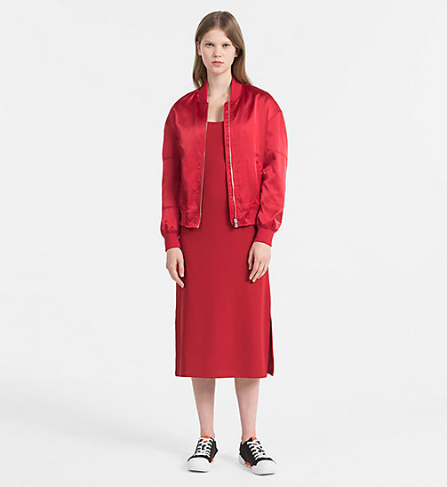 CALVIN KLEIN JEANS Padded Bomber Jacket - TANGO RED - CALVIN KLEIN JEANS PACK YOUR BAG - detail image 1