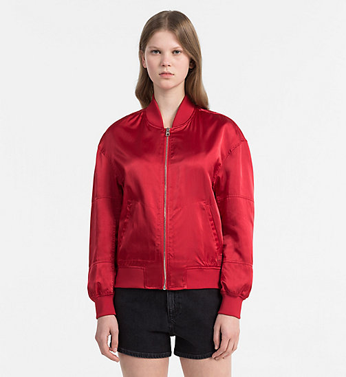 CALVIN KLEIN JEANS Padded Bomber Jacket - TANGO RED - CALVIN KLEIN JEANS PACK YOUR BAG - main image