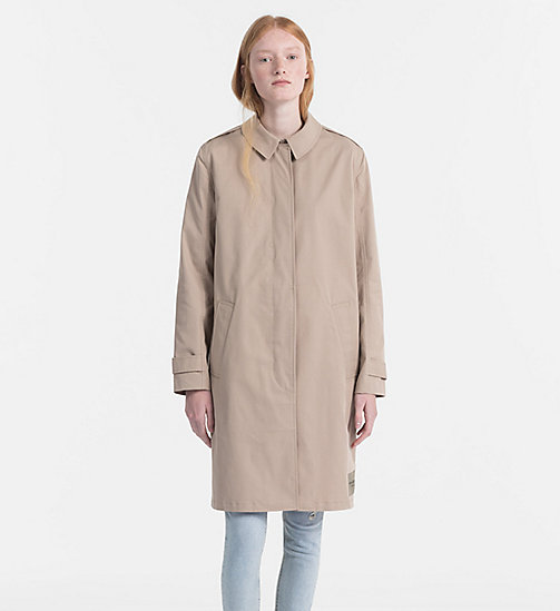 CALVIN KLEIN JEANS Cotton Twill Car Coat - SILVER MINK - CALVIN KLEIN JEANS TRUE COLOURS - main image