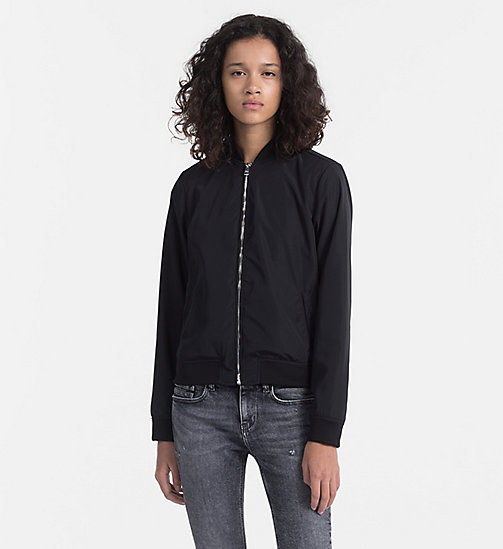 CALVIN KLEIN JEANS Satin Bomber Jacket - CK BLACK - CALVIN KLEIN JEANS PACK YOUR BAG - main image