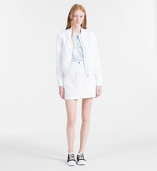 CALVIN KLEIN JEANS Satin Bomber Jacket - BRIGHT WHITE -  CLOTHES - detail image 1