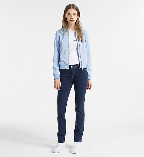 CALVIN KLEIN JEANS Satin Bomber Jacket - CHAMBRAY BLUE - CALVIN KLEIN JEANS NEW IN - detail image 1