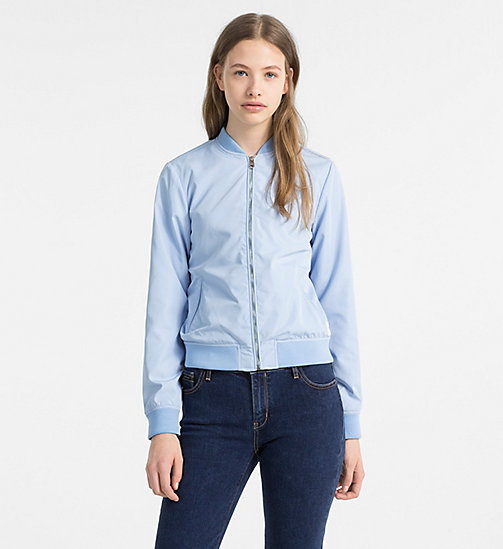 CALVIN KLEIN JEANS Satin Bomber Jacket - CHAMBRAY BLUE - CALVIN KLEIN JEANS NEW IN - main image