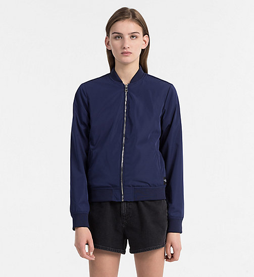 CALVIN KLEIN JEANS Satin Bomber Jacket - PEACOAT - CALVIN KLEIN JEANS CLOTHES - main image