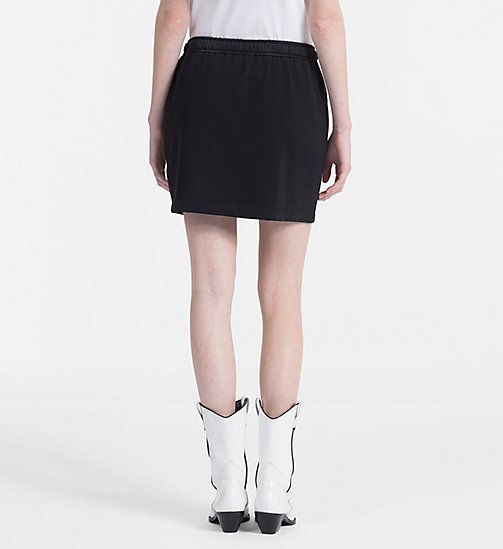 CALVIN KLEIN JEANS Jersey Mini Skirt - CK BLACK / BRIGHT WHITE -  CLOTHES - detail image 1