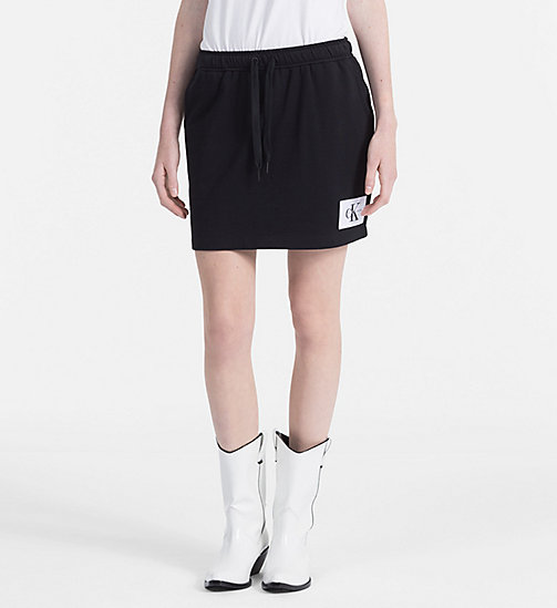 CALVIN KLEIN JEANS Jersey Mini Skirt - CK BLACK / BRIGHT WHITE -  CLOTHES - main image