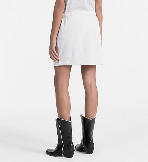 CALVIN KLEIN JEANS Jersey Mini Skirt - WHITE HEATHER / SPECTRA YELLOW - CALVIN KLEIN JEANS DRESSES & SKIRTS - detail image 1