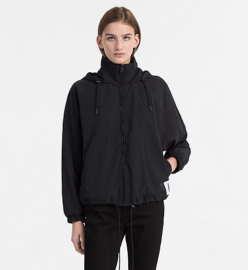CALVIN KLEIN JEANS Hooded Windbreaker Jacket - CK BLACK - CALVIN KLEIN JEANS COATS & JACKETS - main image