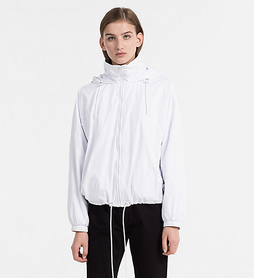 CALVIN KLEIN JEANS Hooded Windbreaker Jacket - BRIGHT WHITE - CALVIN KLEIN JEANS COATS & JACKETS - main image