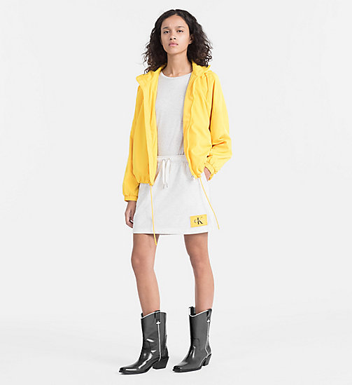 CALVIN KLEIN JEANS Hooded Windbreaker Jacket - SPECTRA YELLOW - CALVIN KLEIN JEANS CLOTHES - detail image 1