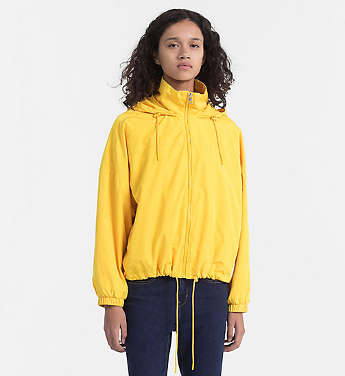 CALVIN KLEIN JEANS Hooded Windbreaker Jacket - SPECTRA YELLOW - CALVIN KLEIN JEANS JACKETS - main image