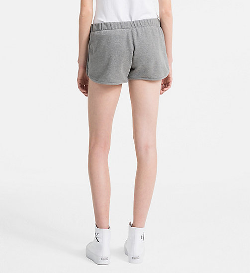 CALVIN KLEIN JEANS Logo Jogger Shorts - LIGHT GREY HEATHER - CALVIN KLEIN JEANS LOGO SHOP - detail image 1