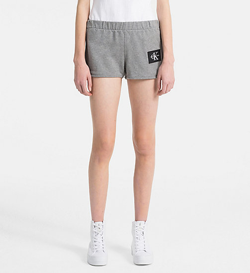 CALVIN KLEIN JEANS Logo Jogger Shorts - LIGHT GREY HEATHER - CALVIN KLEIN JEANS LOGO SHOP - main image