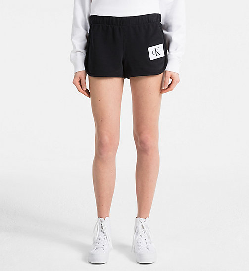 CALVIN KLEIN JEANS Logo Sweat-Shorts - CK BLACK - CALVIN KLEIN JEANS NEW IN - main image