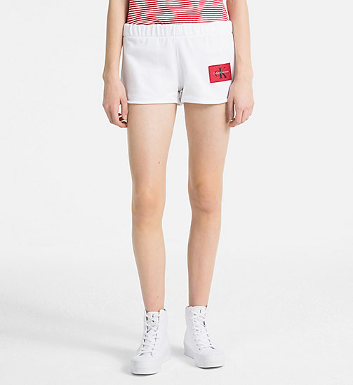 CALVIN KLEIN JEANS Logo Sweat-Shorts - BRIGHT WHITE - CALVIN KLEIN JEANS CLOTHES - main image