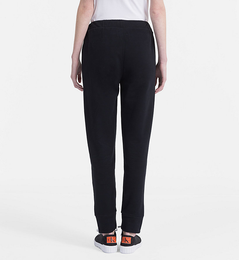 CALVIN KLEIN JEANS Cotton Terry Jogging Pants - BRIGHT WHITE - CALVIN KLEIN JEANS WOMEN - detail image 1