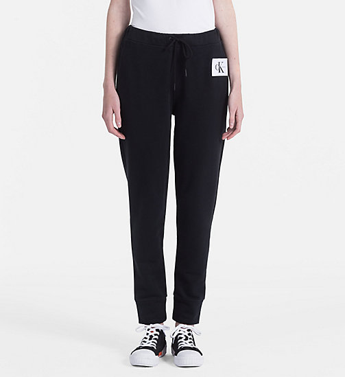 CALVIN KLEIN JEANS Cotton Terry Jogging Pants - CK BLACK - CALVIN KLEIN JEANS TROUSERS & SHORTS - main image