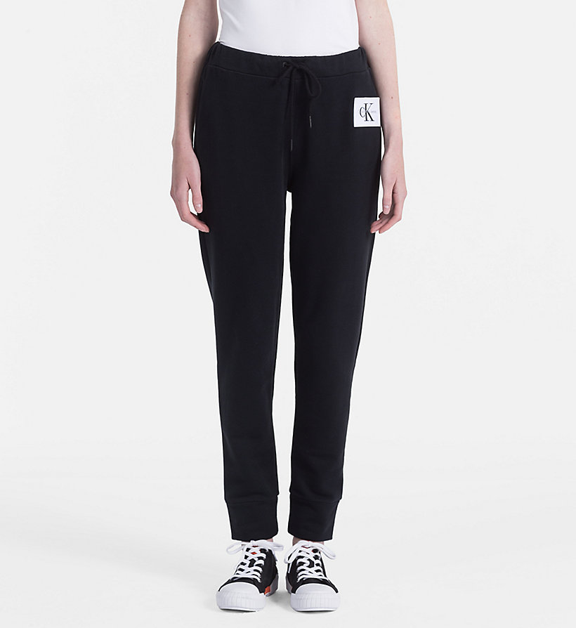 CALVIN KLEIN JEANS Cotton Terry Jogging Pants - BRIGHT WHITE - CALVIN KLEIN JEANS WOMEN - main image