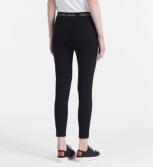 CALVIN KLEIN JEANS Milano Jersey Leggings - CK BLACK -  NEW IN - detail image 1