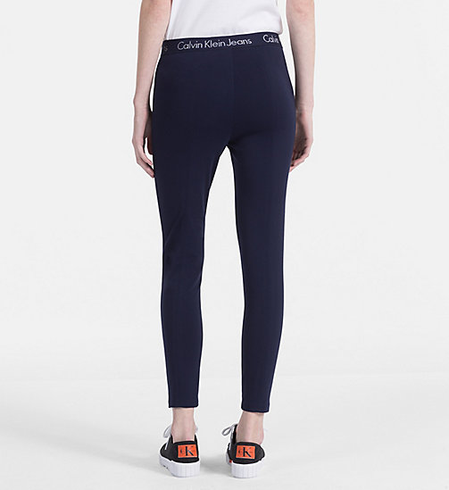 CALVIN KLEIN JEANS Milano Jersey Leggings - PEACOAT - CALVIN KLEIN JEANS CLOTHES - detail image 1