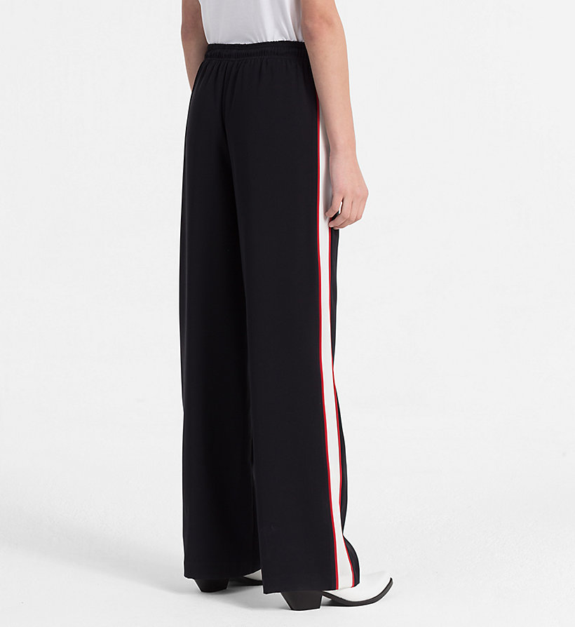 CALVIN KLEIN JEANS Side-Stripe Jogging Pants - TANGO RED - CALVIN KLEIN JEANS WOMEN - detail image 1