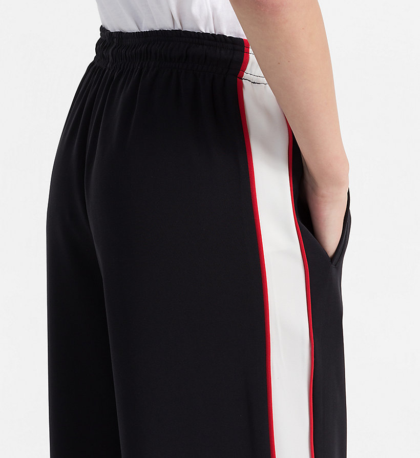 CALVIN KLEIN JEANS Side-Stripe Jogging Pants - TANGO RED - CALVIN KLEIN JEANS WOMEN - detail image 2