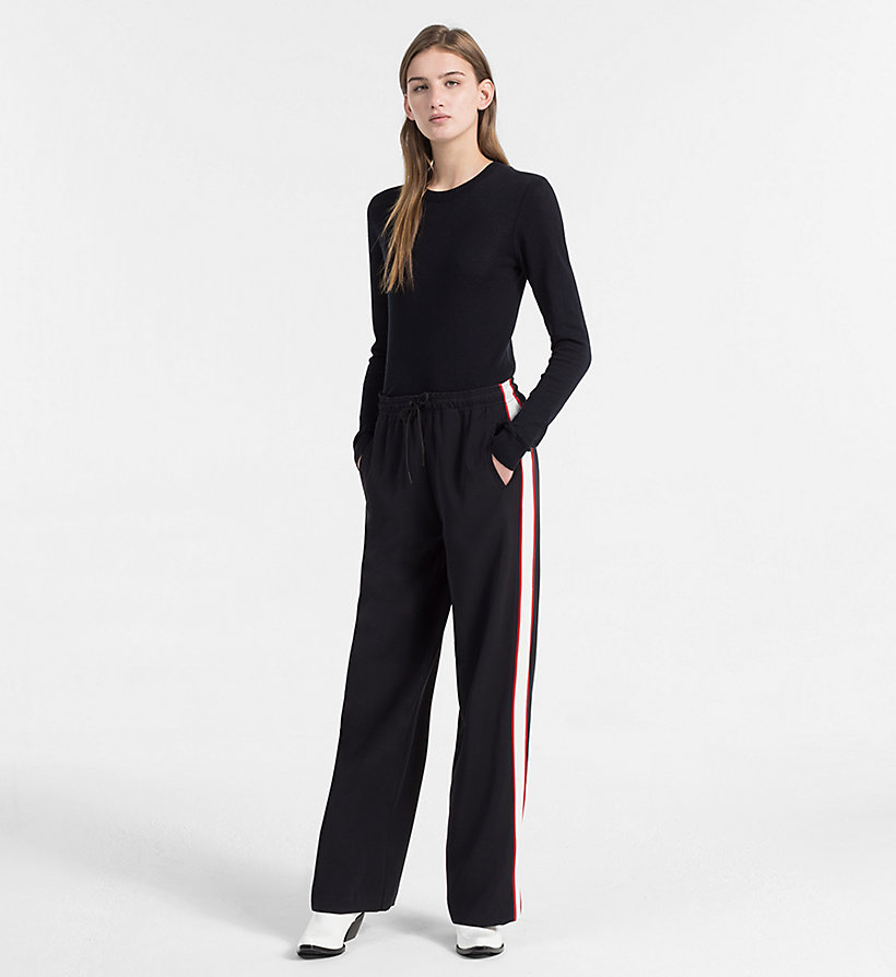 CALVIN KLEIN JEANS Side-Stripe Jogging Pants - TANGO RED - CALVIN KLEIN JEANS WOMEN - detail image 3