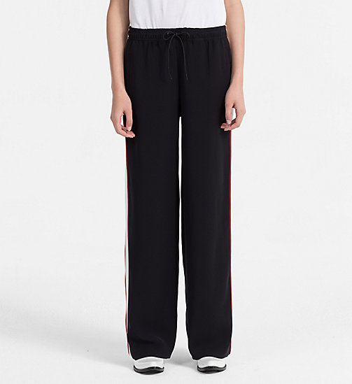 CALVIN KLEIN JEANS Side-Stripe Jogging Pants - CK BLACK - CALVIN KLEIN JEANS CLOTHES - main image