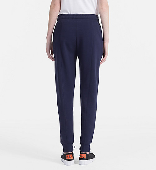 CALVIN KLEIN JEANS Cotton Terry Jogging Pants - PEACOAT - CALVIN KLEIN JEANS NEW IN - detail image 1