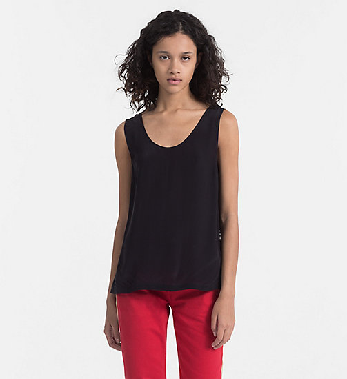 CALVIN KLEIN JEANS Crepe Tank Top - CK BLACK - CALVIN KLEIN JEANS PACK YOUR BAG - main image