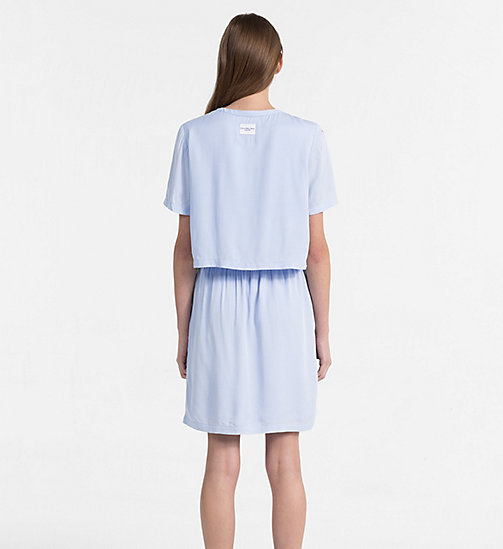 CALVIN KLEIN JEANS Crepe Two-in-One Dress - CHAMBRAY BLUE - CALVIN KLEIN JEANS DRESSES & SKIRTS - detail image 1