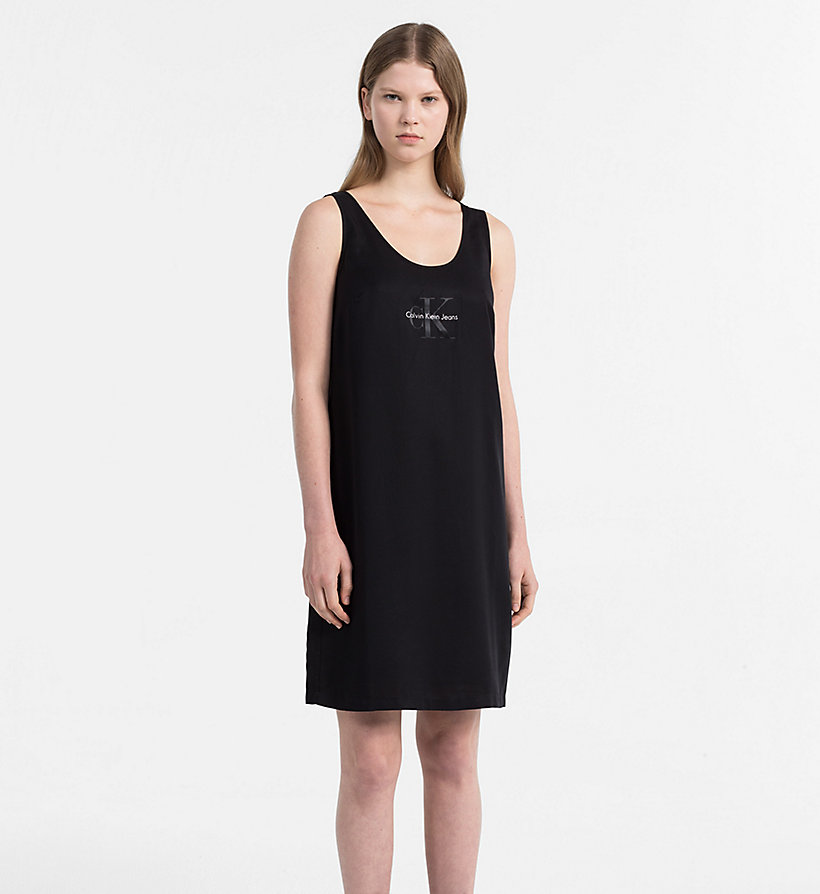 CALVIN KLEIN JEANS Logo Tank Dress - BRIGHT WHITE - CALVIN KLEIN JEANS WOMEN - main image