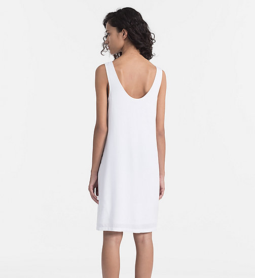 CALVIN KLEIN JEANS Logo Tank Dress - BRIGHT WHITE - CALVIN KLEIN JEANS HEAT WAVE - detail image 1