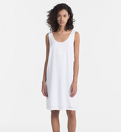 CALVIN KLEIN JEANS Logo Tank Dress - BRIGHT WHITE - CALVIN KLEIN JEANS HEAT WAVE - main image