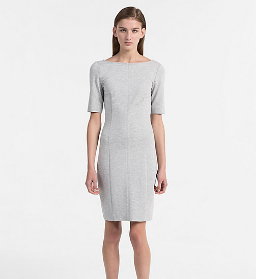 CALVIN KLEIN JEANS Milano Jersey Dress - LIGHT GREY HEATHER - CALVIN KLEIN JEANS DRESSES & SKIRTS - main image