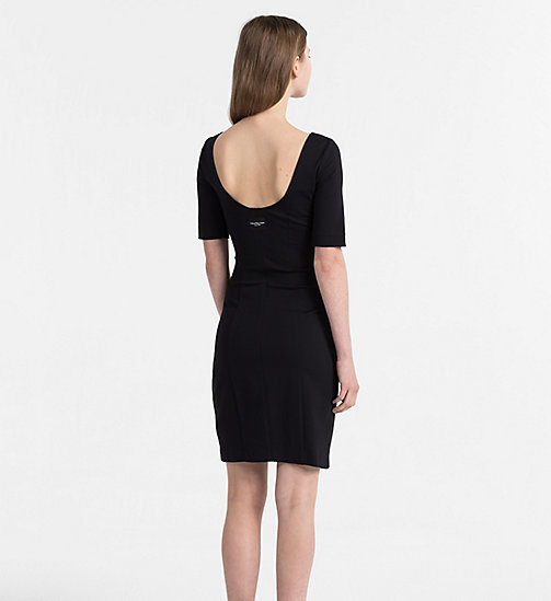 CALVIN KLEIN JEANS Milano Jersey Dress - CK BLACK -  NEW IN - detail image 1