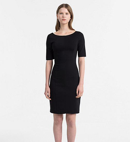 CALVIN KLEIN JEANS Milano Jersey Dress - CK BLACK - CALVIN KLEIN JEANS NEW IN - main image