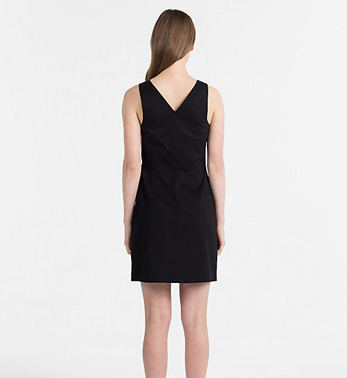 CALVIN KLEIN JEANS Cotton Twill Dress - CK BLACK - CALVIN KLEIN JEANS HEAT WAVE - detail image 1