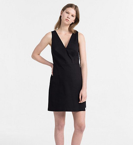 CALVIN KLEIN JEANS Cotton Twill Dress - CK BLACK - CALVIN KLEIN JEANS HEAT WAVE - main image