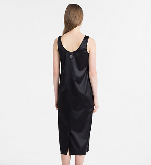 CALVIN KLEIN JEANS Satin Jersey Midi Dress - CK BLACK - CALVIN KLEIN JEANS HEAT WAVE - detail image 1