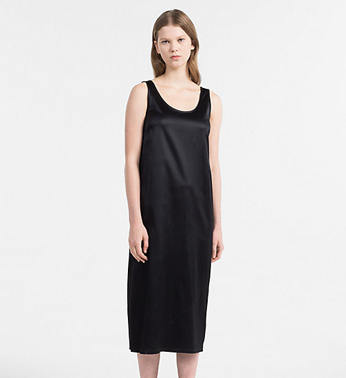 CALVIN KLEIN JEANS Satin Jersey Midi Dress - CK BLACK - CALVIN KLEIN JEANS HEAT WAVE - main image