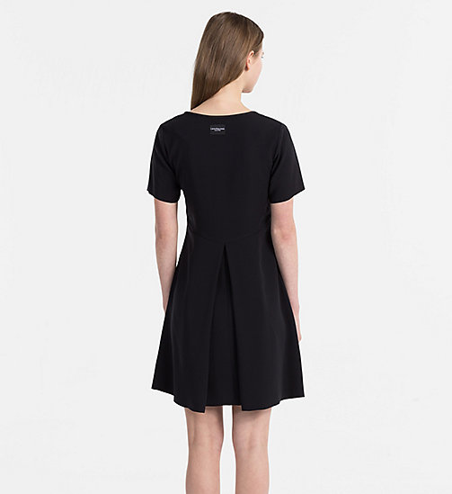CALVIN KLEIN JEANS Satin Skater Dress - CK BLACK - CALVIN KLEIN JEANS DRESSES & SKIRTS - detail image 1
