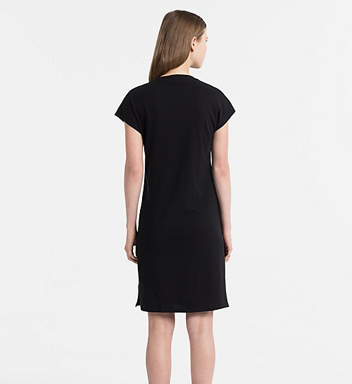 CALVIN KLEIN JEANS Logo T-shirt Dress - CK BLACK - CALVIN KLEIN JEANS HEAT WAVE - detail image 1