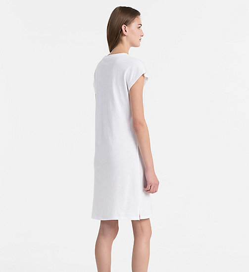 CALVIN KLEIN JEANS Logo T-shirt Dress - BRIGHT WHITE - CALVIN KLEIN JEANS HEAT WAVE - detail image 1