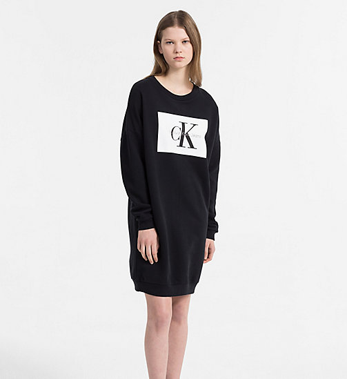 CALVIN KLEIN JEANS Logo Jumper Dress - CK BLACK - CALVIN KLEIN JEANS TRUE COLOURS - main image