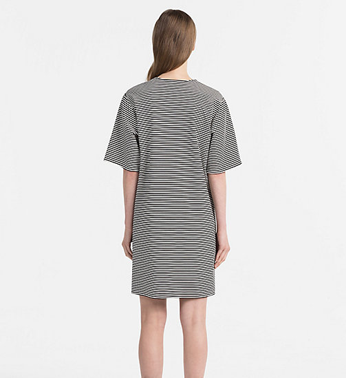 CALVIN KLEIN JEANS Milano Jersey Stripe Dress - CK BLACK / EGRET - CALVIN KLEIN JEANS NEW IN - detail image 1