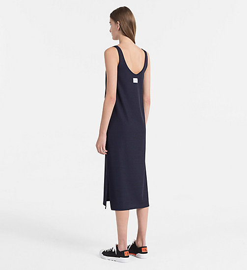 CALVIN KLEIN JEANS Rib Jersey Maxi Dress - PEACOAT - CALVIN KLEIN JEANS NEW IN - detail image 1