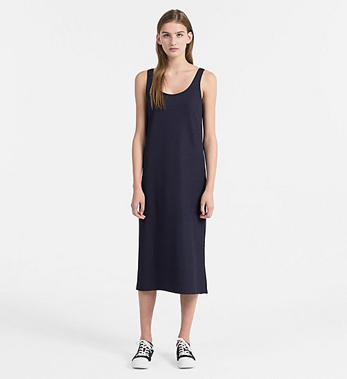 CALVIN KLEIN JEANS Rib Jersey Maxi Dress - PEACOAT - CALVIN KLEIN JEANS NEW IN - main image